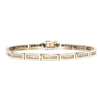 Bespoke 9k Yellow Gold Diamond Bracelet
