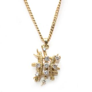Bespoke Diamond Gold Pendant Necklace