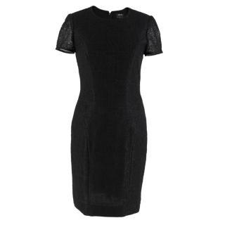 L'Agence For Barneys Black Textured Dress