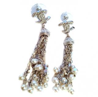 Chanel Chain Drop CC Earrings