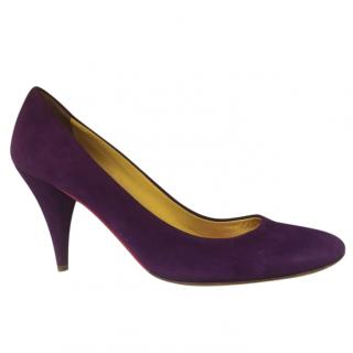 Miu Miu Purple Suede Pumps