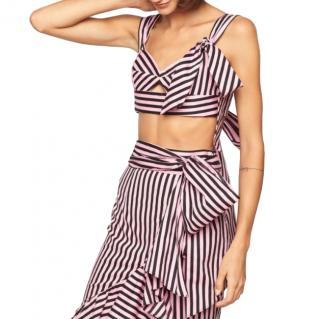 Milly Pink Stripe Print Camilla Top