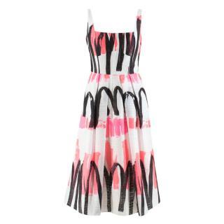 Milly White Camilla Midi Dress - New Season