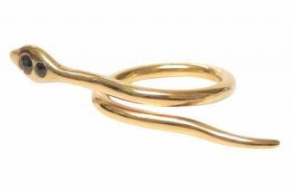 Ileana Makri Black Diamond Snake Ring