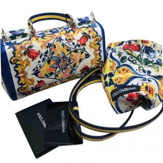 Dolce & Gabbana Sicily Maiolica print bag