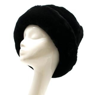 Gilly Forge London Black Faux Fur Hat