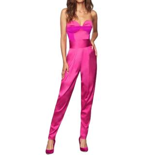 Milly Stretch Satin Corset Jumpsuit