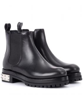 Alexander McQueen Leather Mod Chelsea Boots