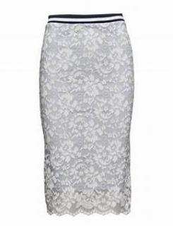 Ganni Ayame lace pencil skirt