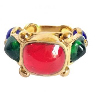 Gripoix Paris Pompon Poured Glass Ring