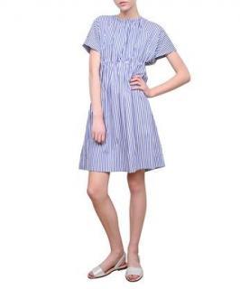 Victoria Victoria Beckham Striped Cotton Poplin Dress