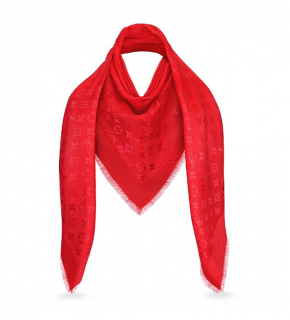 Louis Vuitton Red Monogram Shawl