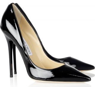 Jimmy Choo Anouk Patent Black 100 Pumps