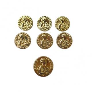 Chanel set of 7 buttons with the portrait of Chanel