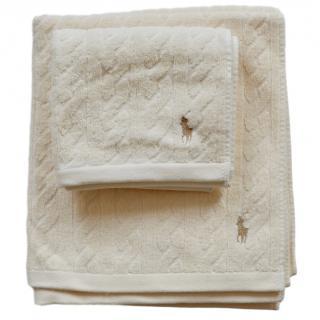 Ralph Lauren bath and guest towel set
