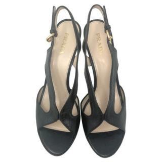Prada black classic sandals