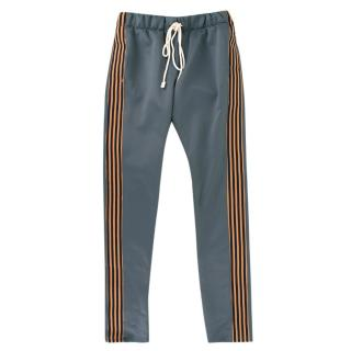AY (Tats) EPTM Blue and Brown Striped Jogging Trousers