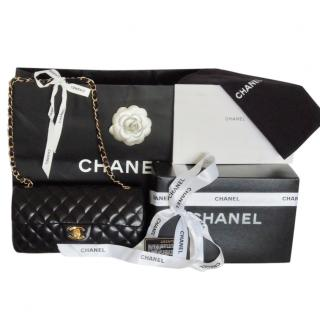 Chanel classic timeless black leather bag