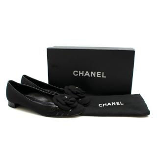 Chanel Heeled Black Ballerina Pumps