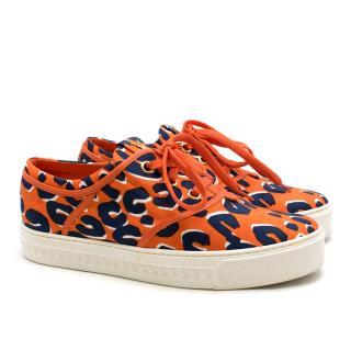 Louis Vuitton Orange Patterned Trainers