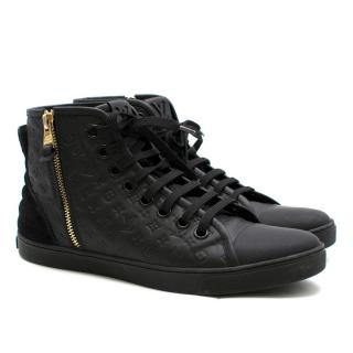 Louis Vuitton Monogram Embossed Leather High Top Sneakers
