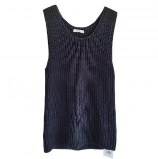 Celine by Phoebe Philo Ribbed Knit Sleeveless Top