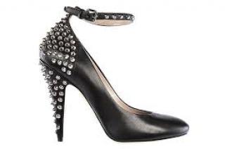 Miu Miu Black Studded Ankle Strap Mary Jane Pumps
