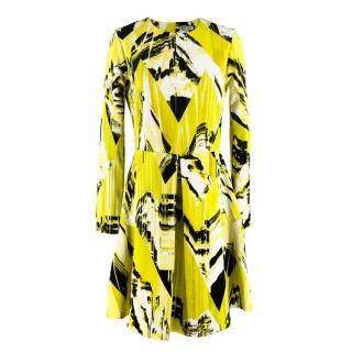 Kenzo Girls Neon Yellow Printed Dress