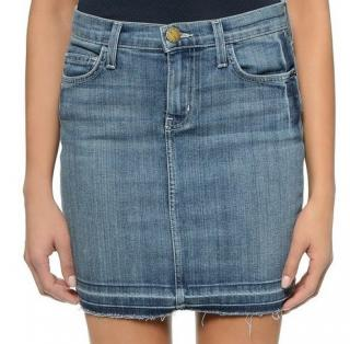 CURRENT/ELLIOTT Denim The Skinny Mini Dusty Sapphire Skirt