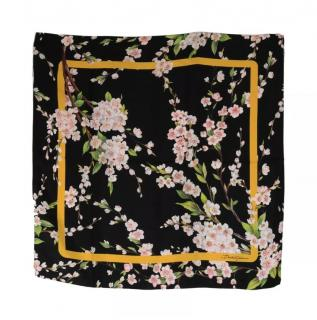 Dolce & Gabbana black flower print scarf wrap