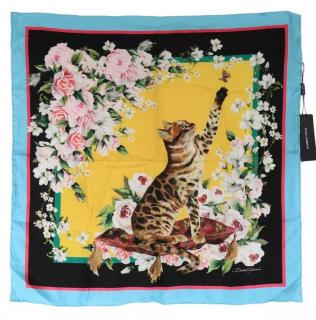 Dolce & Gabbana Silk Bengal cat print scarf