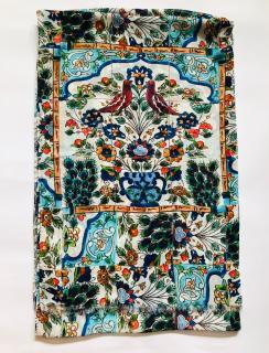 Dolce & Gabbana Silk Sicily Caret print scarf