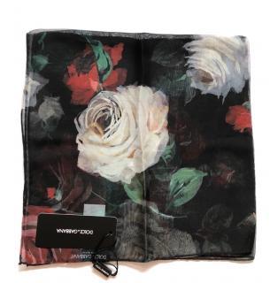 Dolce & Gabbana Roses print silk scarf