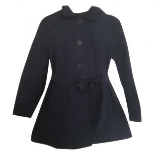 Prada Navy Hooded Trench Coat