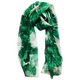 Dolce & Gabbana  Banana print silk scarf wrap