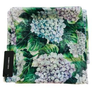 Dolce & Gabbana Hydrangea print silk wrap