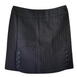 Chanel Black Tweed Mini Skirt