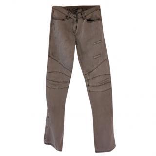 Balmain grey flared jeans