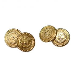 Chanel gold tone cufflinks