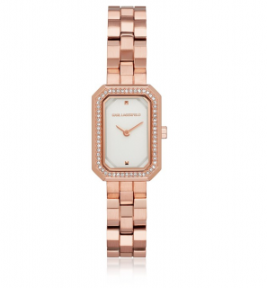 Karl Lagerfeld Linda Rose & Crystal Watch
