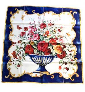 Dolce & Gabbana Blue & White Sicily Vase Scarf