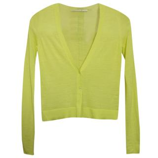 Schumacher Lime Green Fine Wool Cardigan