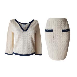 Chanel Knit Top & Skirt Set