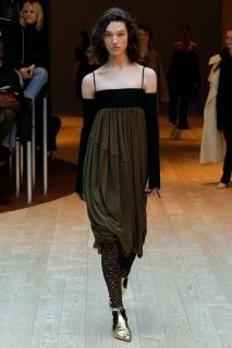 Celine by Pheobe Philo Khaki High Waisted Bubble Skirt