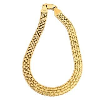 Bespoke Yellow Gold Mesh Bracelet