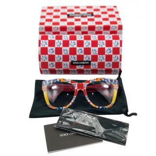 Dolce & Gabbana Carretto Sicily Print Sunglasses