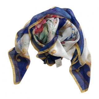 Dolce & Gabbana Sicily Print Silk Twill Wrap Scarf