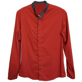 Dsquared2 Men's Red Collarless Shirt