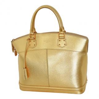 Louis Vuitton Lockit MM Suhali Metallic Gold tote bag