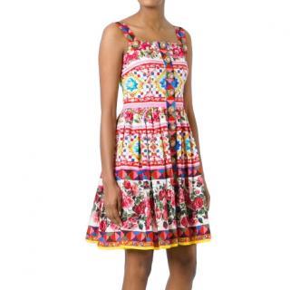 Dolce & Gabbana Sicily Rose Print Dress